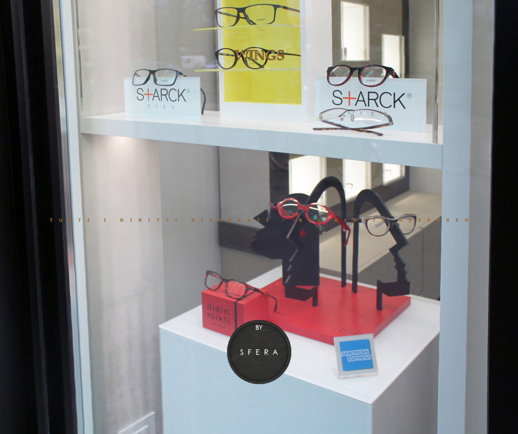 vetrinistica per ottica - shop window dressing for optical