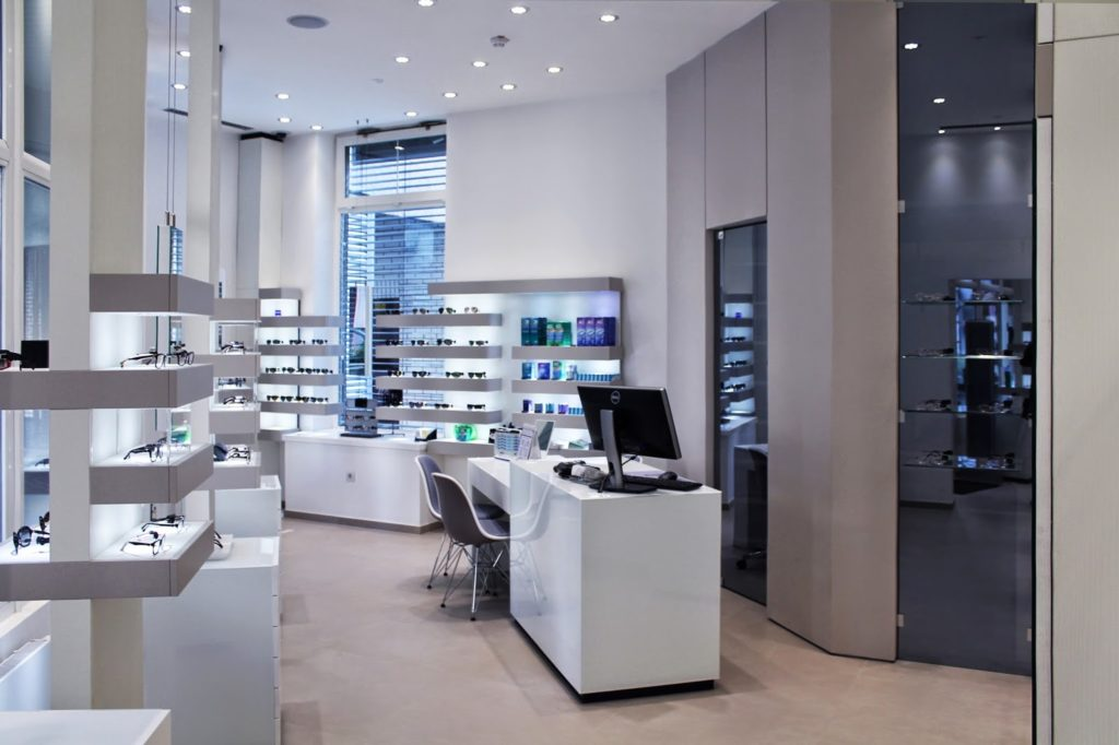 arredamenti per ottica - furnishings for optical stores